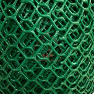 ตาข่ายพลาสติกแข็ง HDPE ตาข่ายพลาสติกพีวีซี ตาข่ายพลาสติกหกเหลี่ยม (สีดำ สีเขียว)